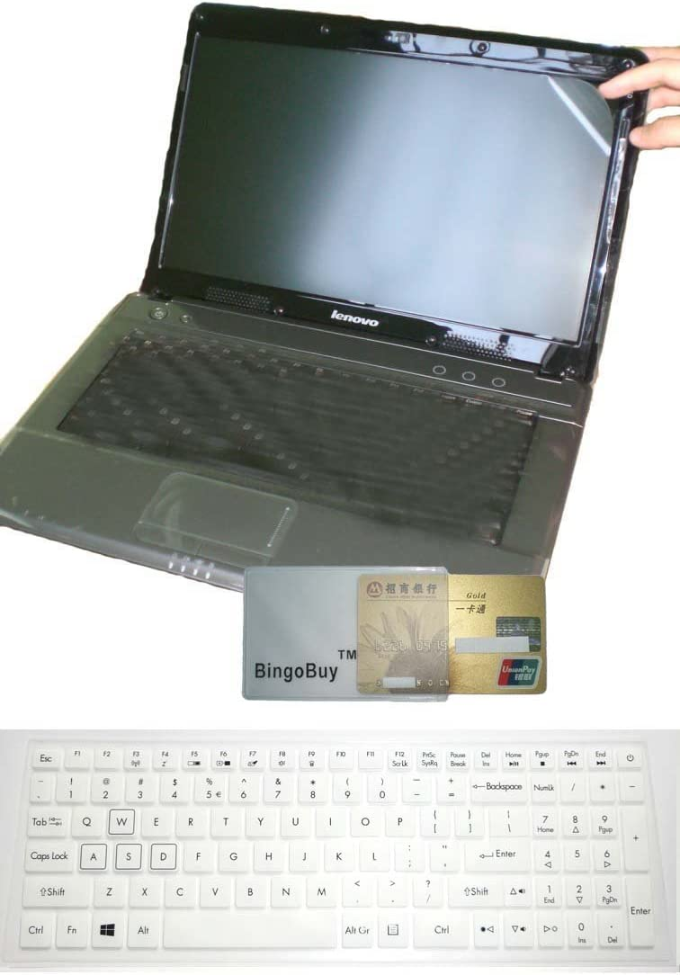 US Layout Keyboard Skin Cover +15.6'' Anti Glare Screen Protector for 15.6'' Acer Aspire VX5-591G, Predator Helios G3-571 G3-572 G3-573, Nitro AN515-42 AN515-51 AN515-52 AN515-53 (White)