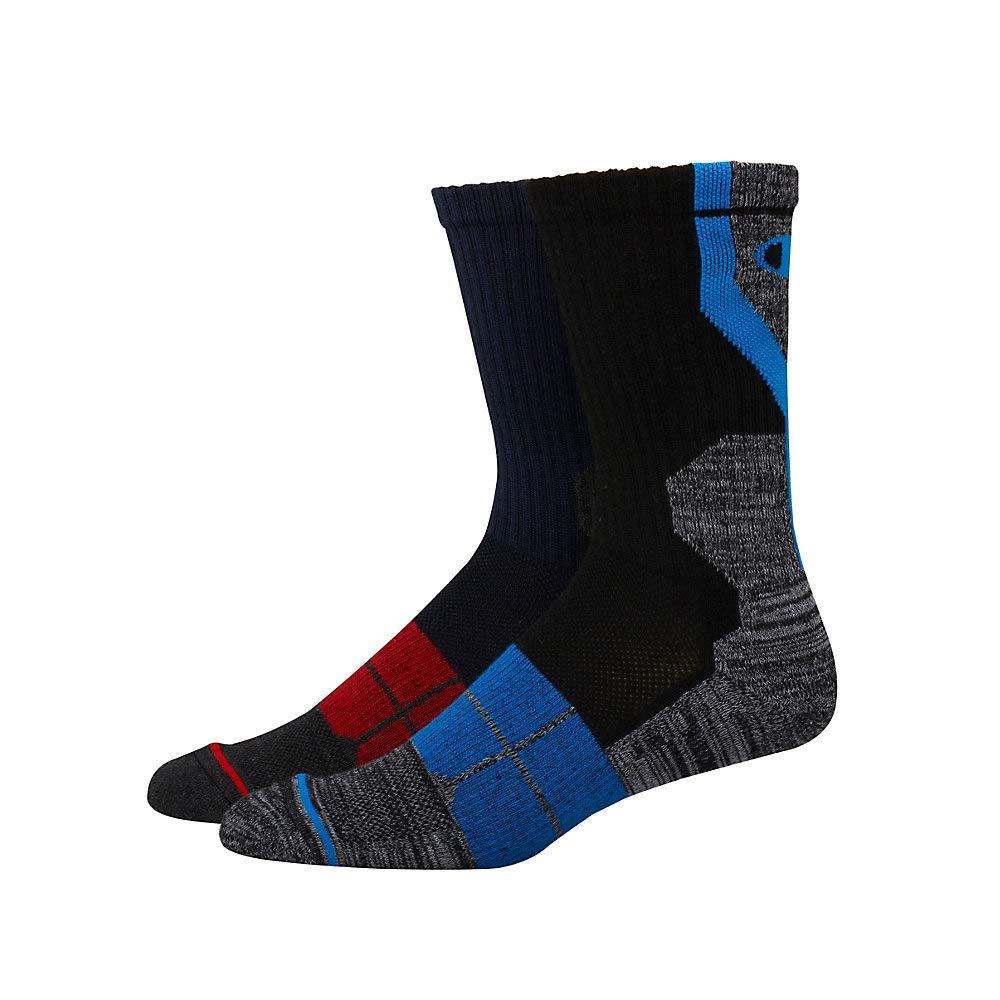 Champion Mens Performance Crew Socks 2-Pack