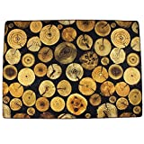 KEPSWET Retro Tree Rings Design Rug Pad 4.5×6.5-Feet, Rectangle Polyester Large Living Room Bedroom Coffee Table Decoration Floor Carpet, Home Non-slip Area Rug Review