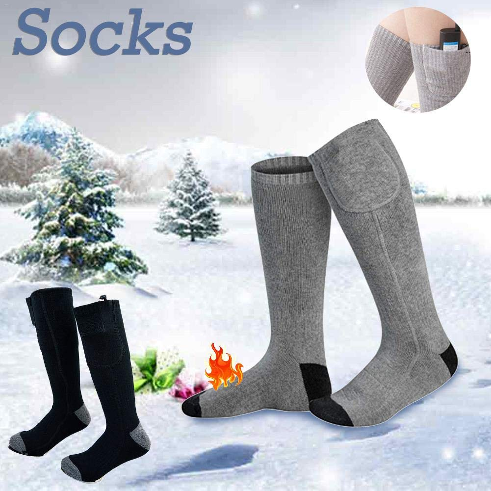 LeKing Chaussettes chauffantes /électriques Recharge USB Chaussettes Chaudes Ext/érieur Chaussettes de Sport pour la p/êche Randonn/ée