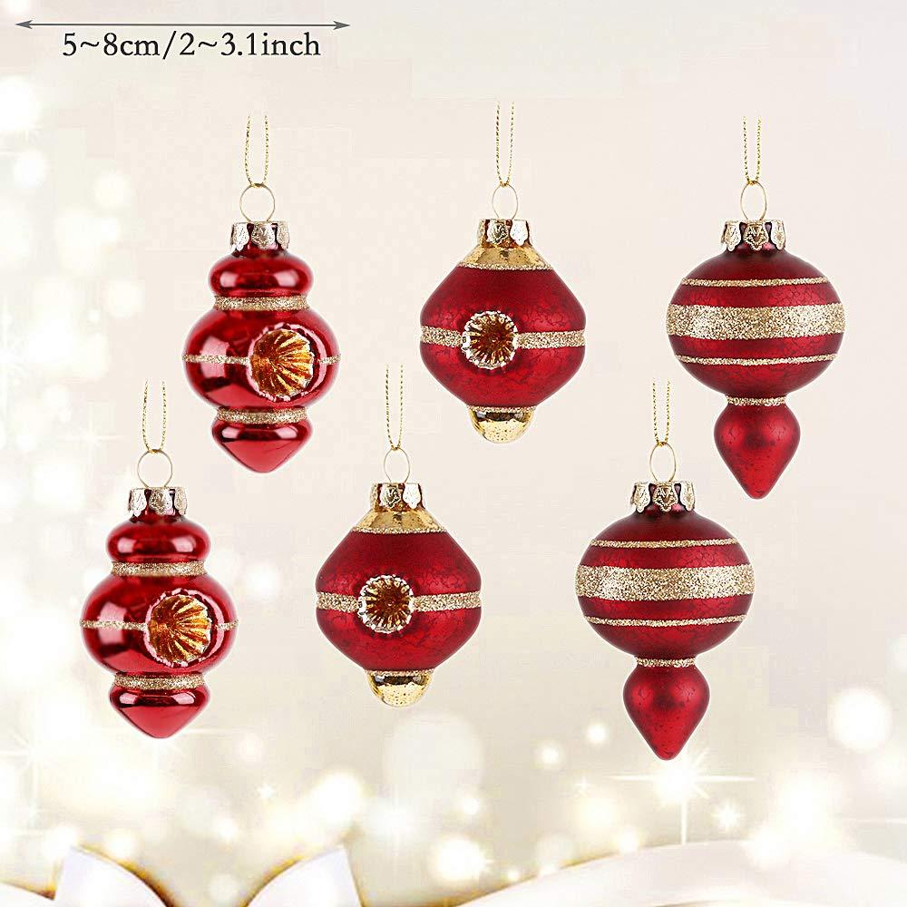 Aufhänger Für Christbaumkugeln.Valery Madelyn 6 Stücke 5cm Glas Weihnachtskugeln Set Der Nordstern
