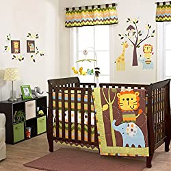 Belle ZuZu & Monkey Friends 3 Piece Baby Crib Bedding Set unisex