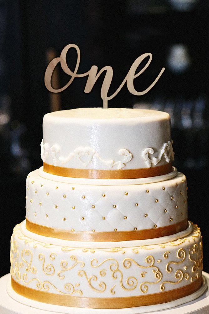One Cake Topper - First Birthday Cake Topper - 1st Birthday - Smash Cake Topper - Birthday Decor - 1st Birthday Topper - Wood Cake Topper (5'')