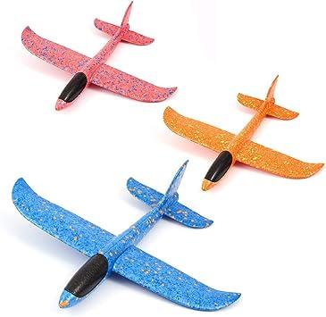 Welltop Aerei da aliante, Giocattoli Aereo in Schiuma Aeroplano di Carta Manuale da Lancio Kit Modello di Giocattolo per Ragazzi Ragazze Bambini Sport