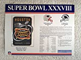 super bowl 32 patch - Super Bowl XXXVIII (2004) - Official NFL Super Bowl Patch with complete Statistics Card - New England Patriots vs Carolina Panthers - Tom Brady MVP