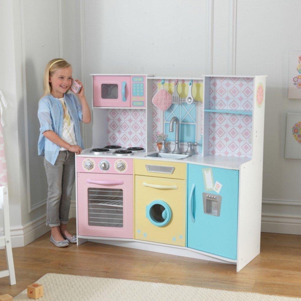 KIDKRAFT 木製キッチンセット「Sweet Treats Pastel Kitchen」キッドクラフト/おままごと/大型キッチン/本格的/木製