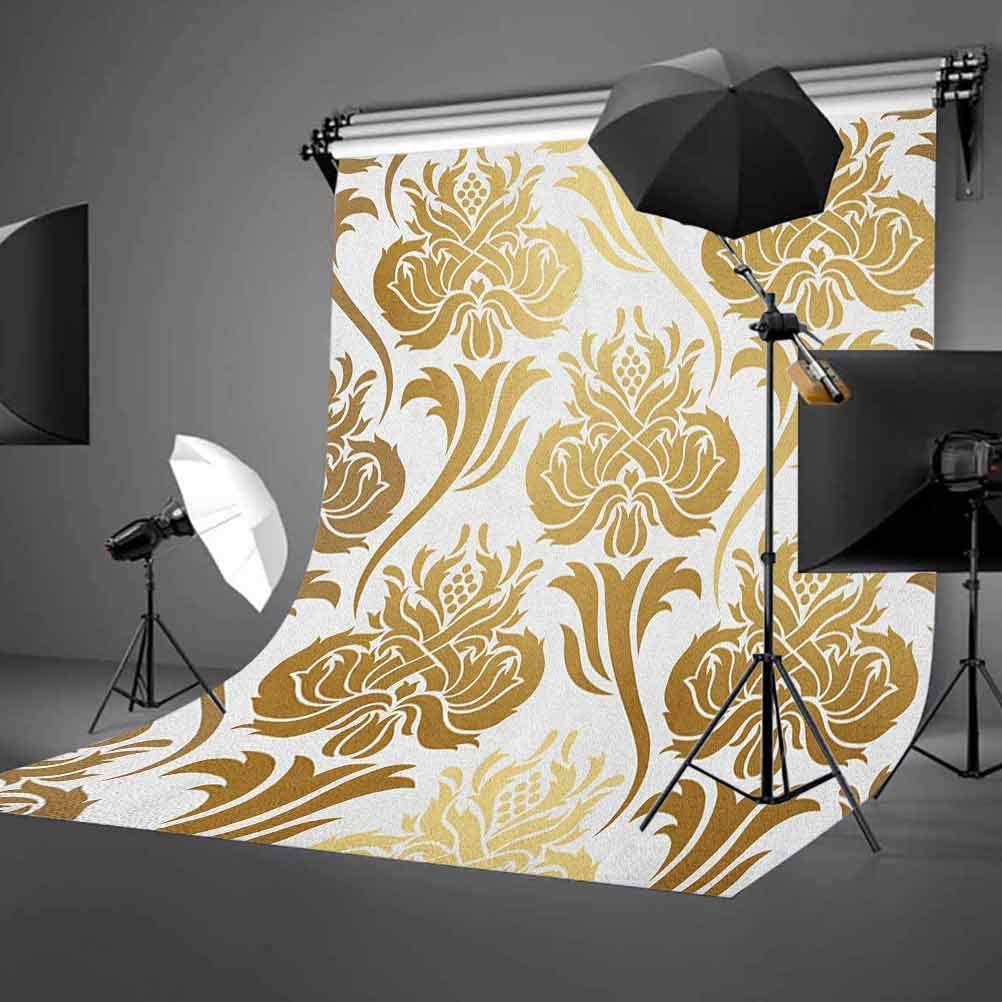7x10 FT Letter M Vinyl Photography Background Backdrops,Abstract Ornamental Design in Dark Color Scheme Swirls and Lines Background Newborn Baby Portrait Photo Studio Photobooth Props