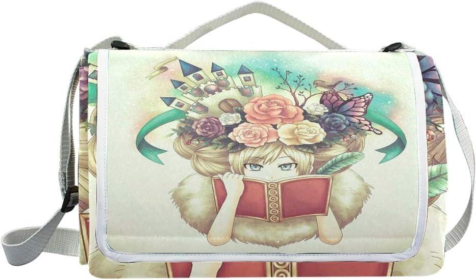 XINGAKA Picnic Blanket,Creative Flower,Large Beach Blanket Outdoor Camping,Waterproof Backing,Foldable