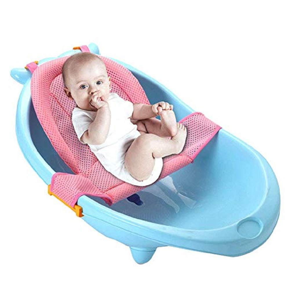 Baby Bath Support Seat,Aerobin Newborn Adjustable Bath Seat Support Net Infant Bath Support Sling Blue