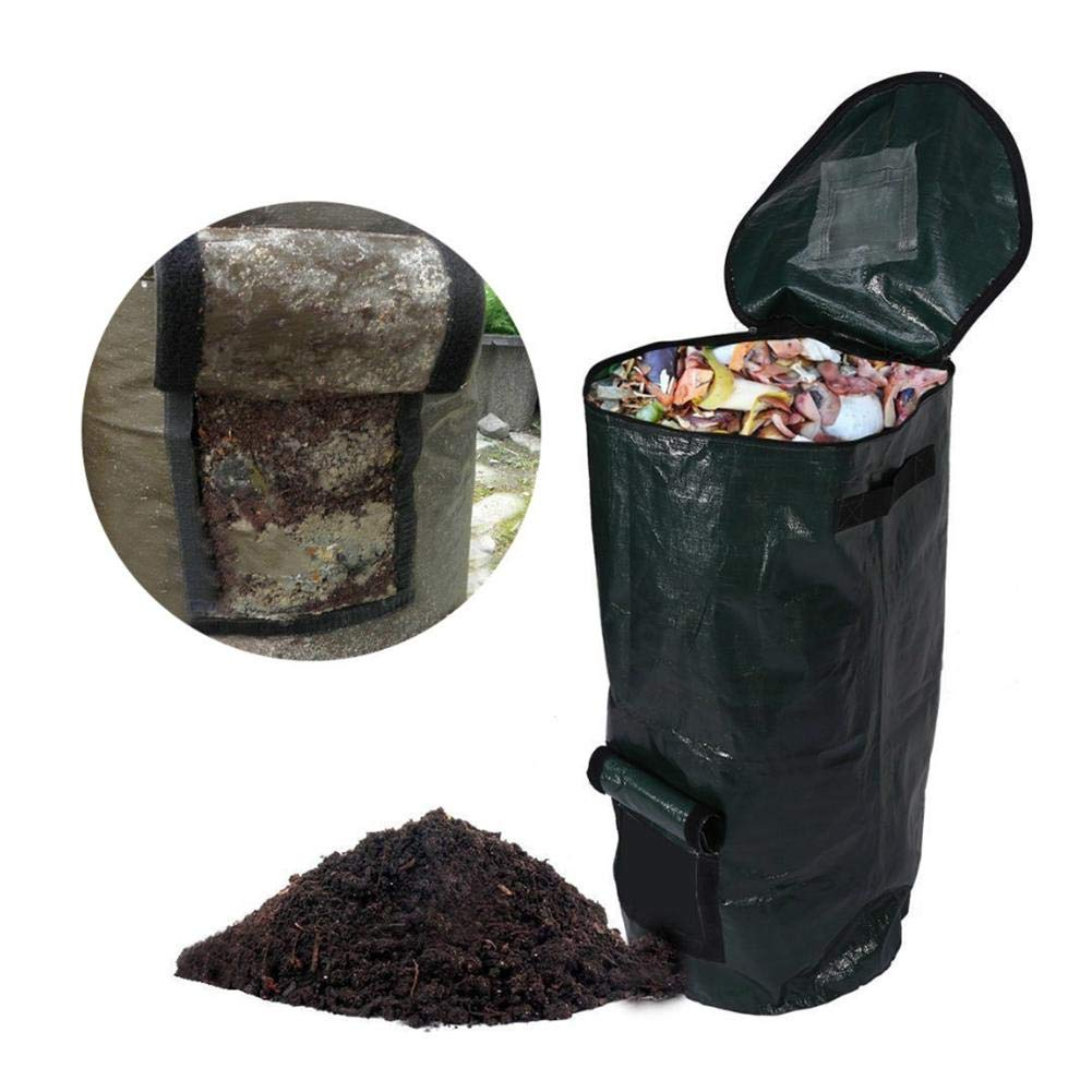 DaJun 3PCS//Pack Compost Bag /&Lawn Pool Garden Leaf Waste Bag,Garden Storage Bags,Environmental Friendly,Fermentation Kitchen Garbage Removal Homemade Organic Compost Bag