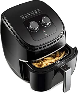 Safeplus Air Fryer,3.5 Quart Electric Hot Air Fryers Oven & Oilless Cooker for Roasting with Nonstick Basket ETL/UL Certified,1-Year Warranty,1300W