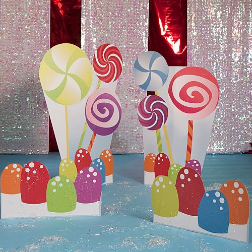 (Candy Party Standees Standup Photo Booth Prop Background Backdrop Party Decoration Decor Scene Setter Cardboard)