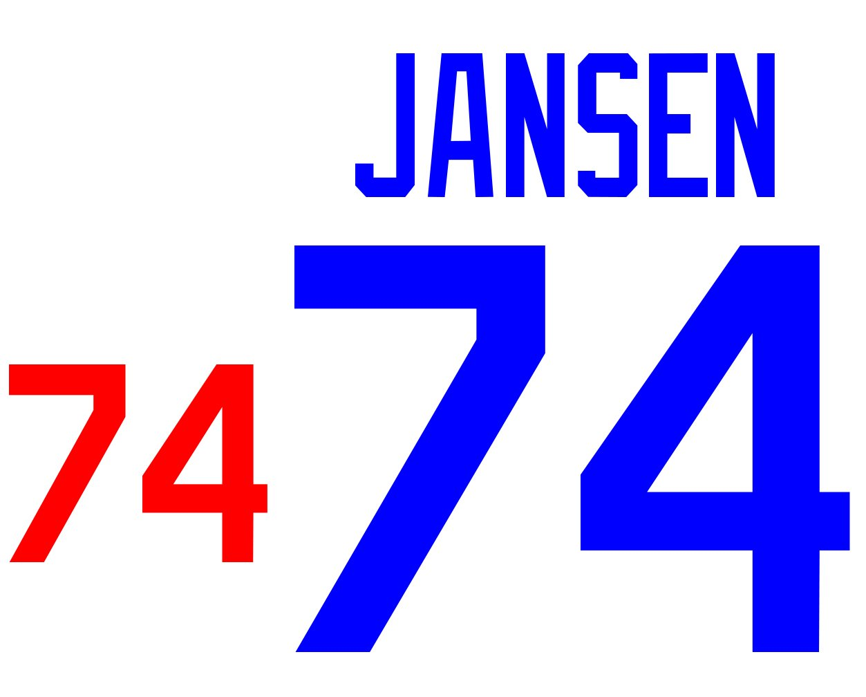 Kenley Jansen Los Angeles Dodgers Jersey Number Kit d8c4ec1f90b