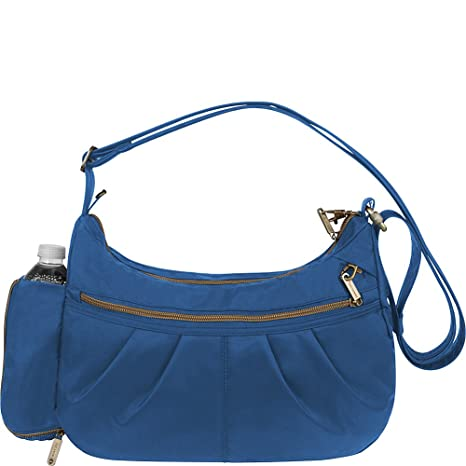 eb39a2e57 Travelon Anti-Theft Signature Hobo, One Size, Cobalt: Amazon.ca: Luggage &  Bags