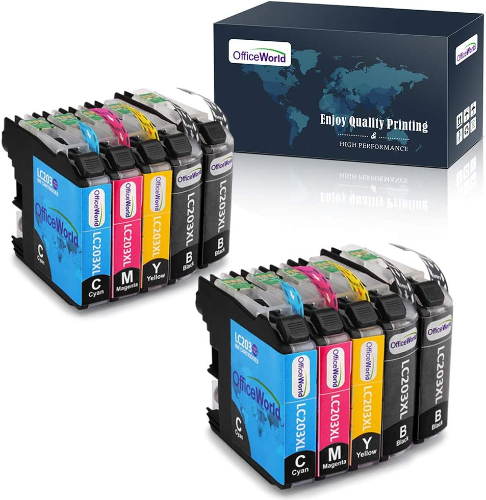 OfficeWorld Compatible LC203 LC203XL Ink Cartridge Replacement for Brother LC203 LC203XL 203XL (10 Packs), Work with Brother MFC-J480DW, MFC-J460DW, MFC-J880DW, MFC-J680DW, MFC-J4420DW, MFC-J4620DW