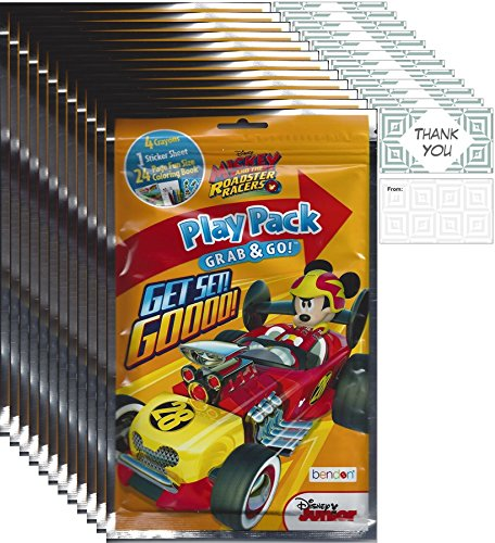 Go Racers (Disney Junior Mickey and the Roadster Racers Grab and go Bundle (12 Play Packs and 12