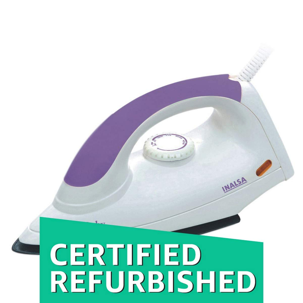 c7964873448 Buy (Certified REFURBISHED) Inalsa Ruby 1000-Watt Dry Iron (White) Online  at Low Prices in India - Amazon.in