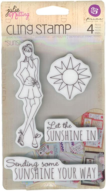 Sunshine Set Prima Marketing Mixed Media Doll Cling Rubber Stamps