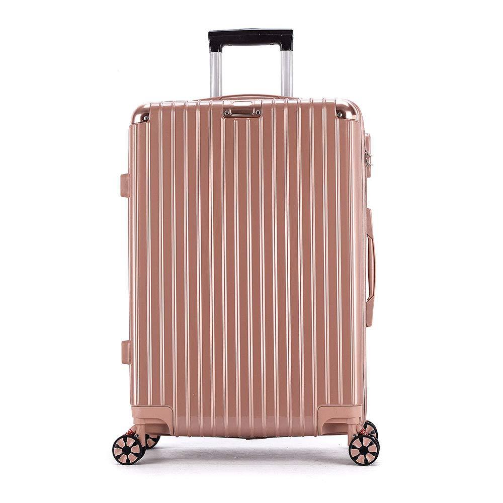 レトロジッパーボックス腹筋+ pcトロリーケースユニバーサルホイール荷物20インチ24インチスーツケース (Color : ローズゴールド, Size : 26 inches)   B07R2M9PPM