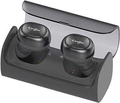 Auriculares con True Wireless de LiteXim, Bluetooth 4.1, auriculares inalámbricos In-Ear a prueba de sudor, set para coche, 12 horas de tiempo de reproducción, con micrófono y cargador.: Amazon.es: Electrónica
