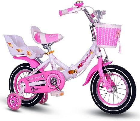 Niños Arrugas bicicleta Chica 20 pulgadas cochecito: Amazon.es: Bebé