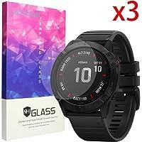 Protector de pantalla compatible con Garmin Fenix 6X Pro, Blueshaw 9H Protector de pantalla de cristal templado compatible con Garmin Fenix 6X Pro Smartwatch 2019, Paquete con 3