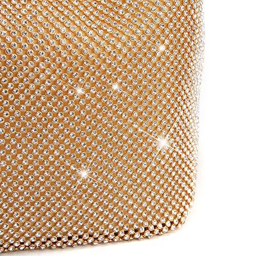 De Brillo Noche Bolso Embragues Monedero Boda Olis Imitación Black Navidad Bolsos Para Fiesta Diamantes Hombro aH8qH54wy