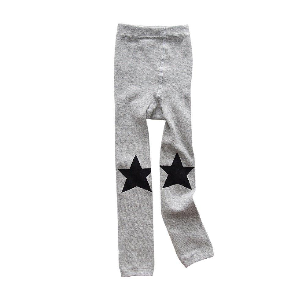 BOBORA Bambine ragazze senza piedi collant Star cuore stampa cotone maglia leggings pantaloni BON-IT-1219