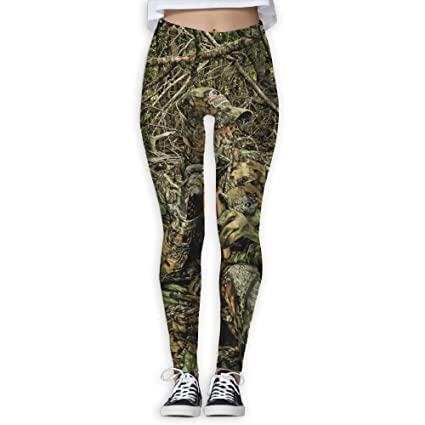 837739dc0d3f6 Hunting Camo Forest Hide Party Women's Tummy Control Sports Running Yoga  Workout Leggings Pants S