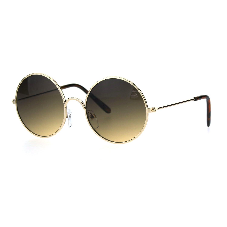 Kids Child Size Hippie Round Circle Lens Tie Dye Gradient Metal Sunglasses j3105col-blppl