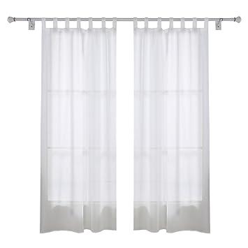 Amazon.de: Deconovo Vorhang Transparent Gardinen Wohnzimmer Voile ... Vorhange Wohnzimmer Weis