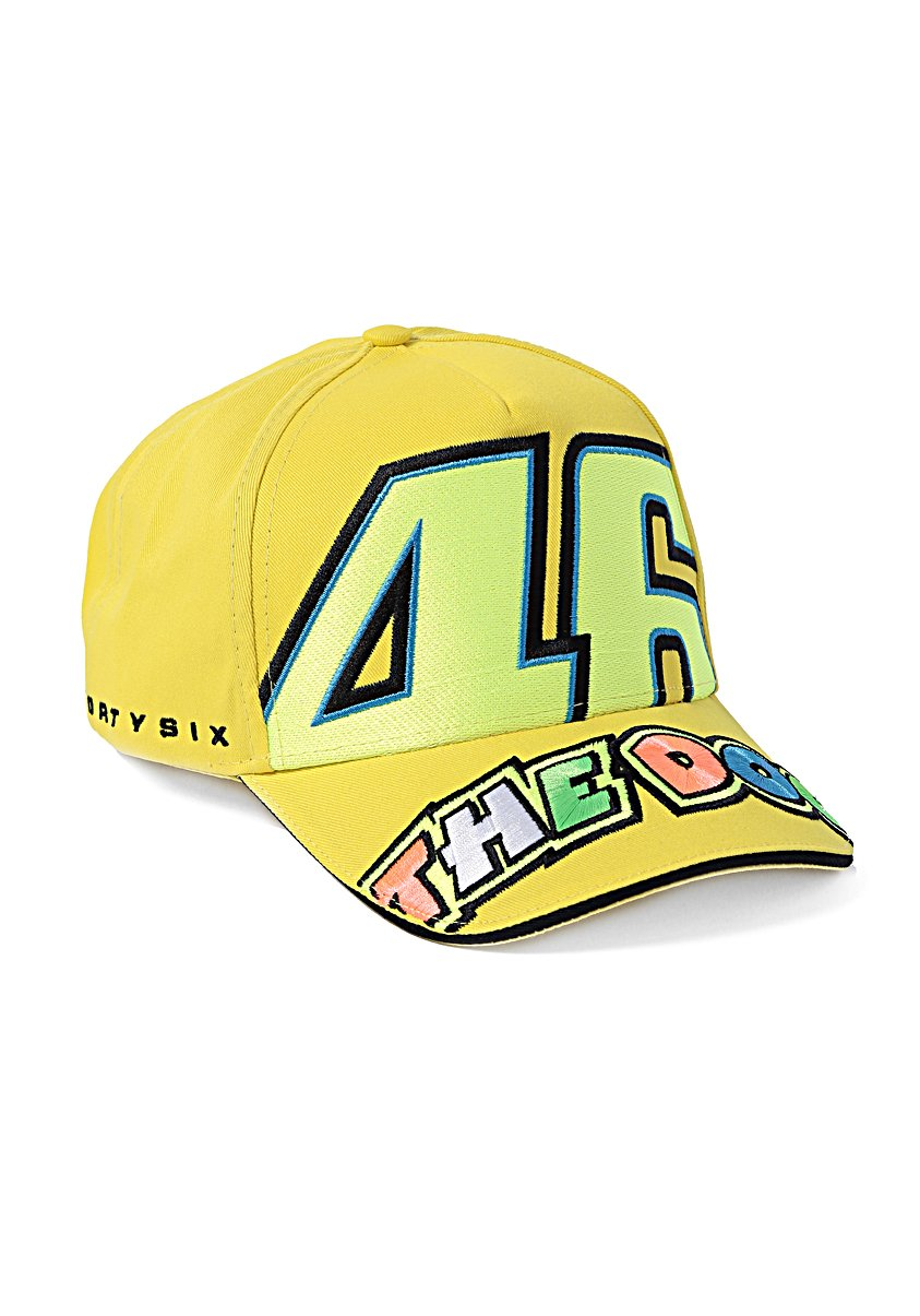 Yamaha Valentino Rossi VR46 baseball cap yellow THE DOCTOR 46BIG logo VRFORTYSIX