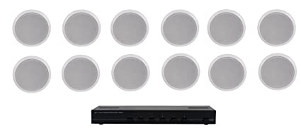 Peachy Amazon Com Home Audio Whole House Speaker System 12 Ceiling Wiring Cloud Battdienstapotheekhoekschewaardnl