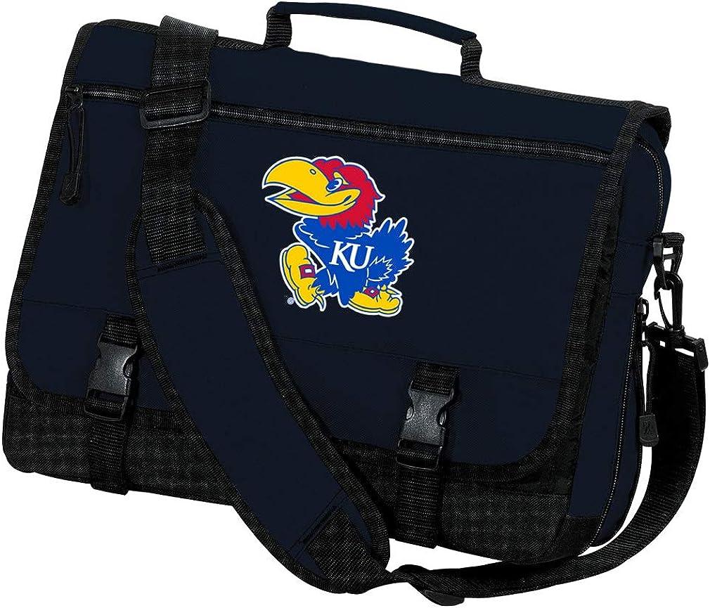 Broad Bay KU Jayhawks Laptop Bag University of Kansas Computer Bag Messenger Bag