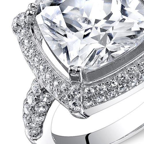 7f4f4482e1a Revoni - Bague de fiançailles Femme - Argent 925 1000 - Diamant de culture   Amazon.fr  Bijoux