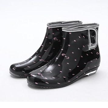 Y&JAXIE Frühling und Herbst Gelee Regen Stiefel / Damen kurze Stiefel / Garten Slip Schuhe / Schuhe , 2 , 36