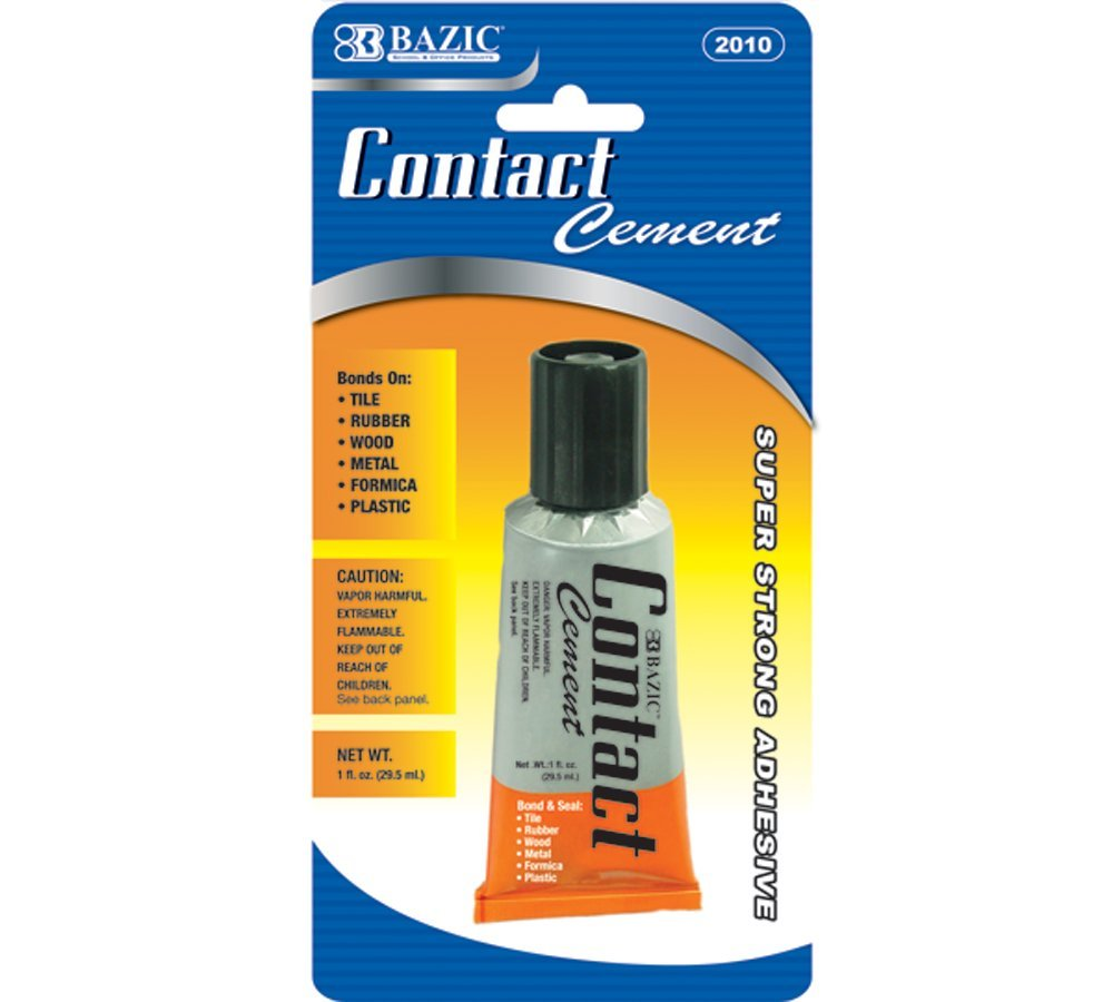 BAZIC 1 Oz. (30mL) Contact Cement Adhesive (Case of 24)