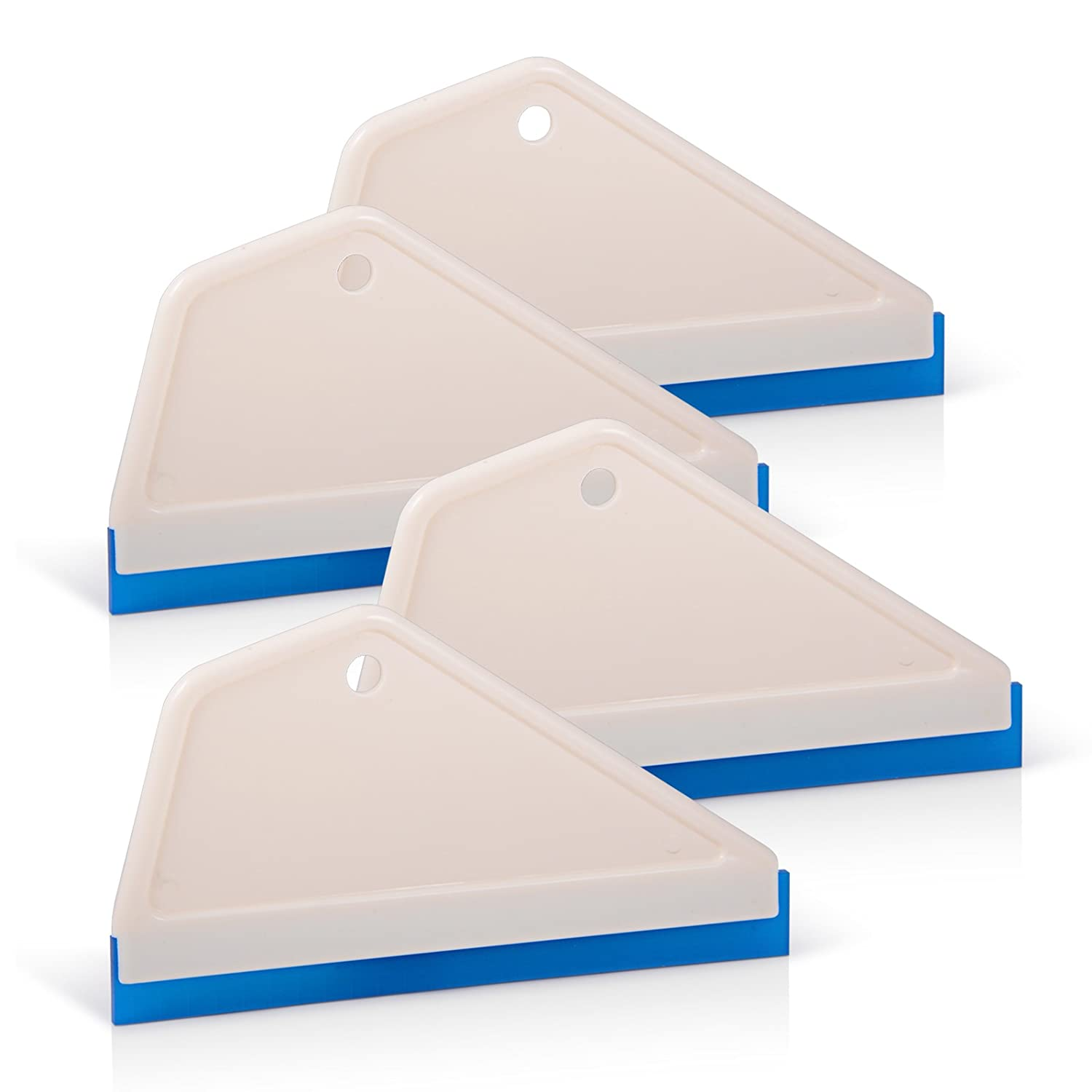FOSHIO Professional 6 Inch Mini Rubber Squeegee for Kitchens, Glass, Shower and Car Windows, Pack of 3