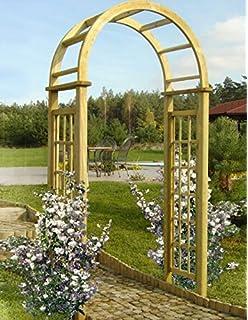 Gartenpirat Pergola Mit Rundbogen 119x58x240 Cm Rosenbogen Aus Holz
