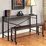 Gilby I Industrial Design Desk , Brown