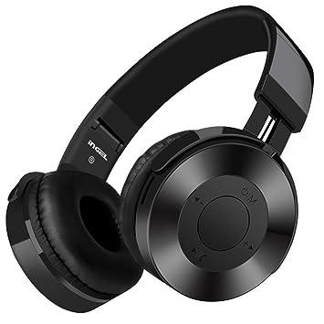 hunpta Auriculares inalámbricos con micrófono y tarjeta SD/TF FM negro negro: Amazon.es: Informática