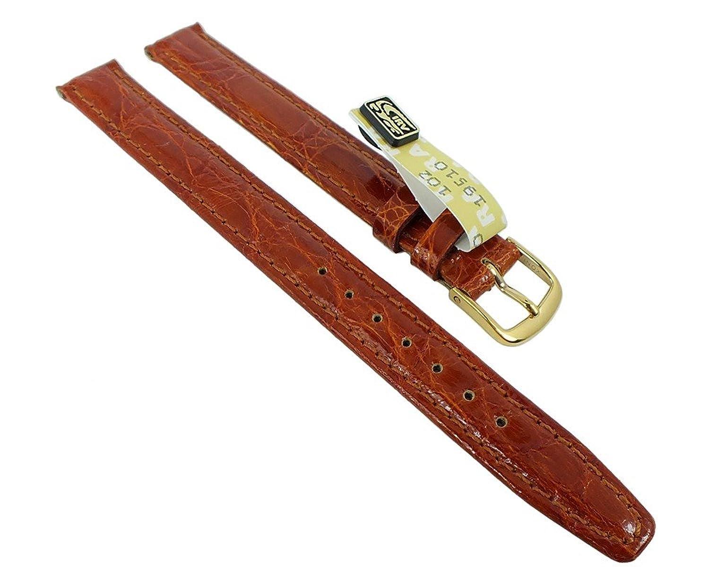 Graf Manufaktur Bahamas Damen XL Ersatzband echt Krokodil Leder braun 993.2.22 - 27583 - Stegbreite:12mm - Schlie