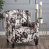 Christopher Knight Home 301405 Elisabeth Arm Chair, Milk Cow + Dark Brown