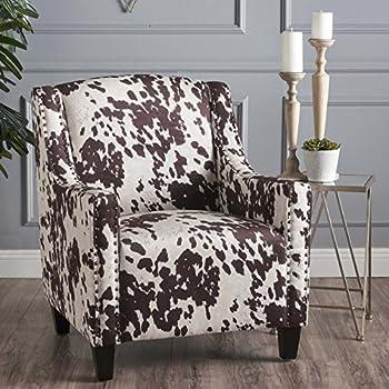 Amazon Com Cowhide Chair Armless Accent Chair Imitation