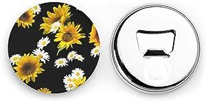 Sunflower Bottle Opener Refrigerator Magnets Fridge Magnet Decor for Kitchen Home Office Wine Openers Gift Pack of 2
