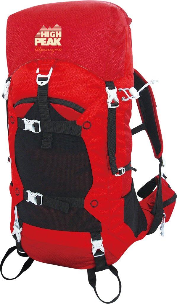 Red Alpinizmo High Peak USA Stratos 40 Internal Frame Hiking Pack One Size HP 689