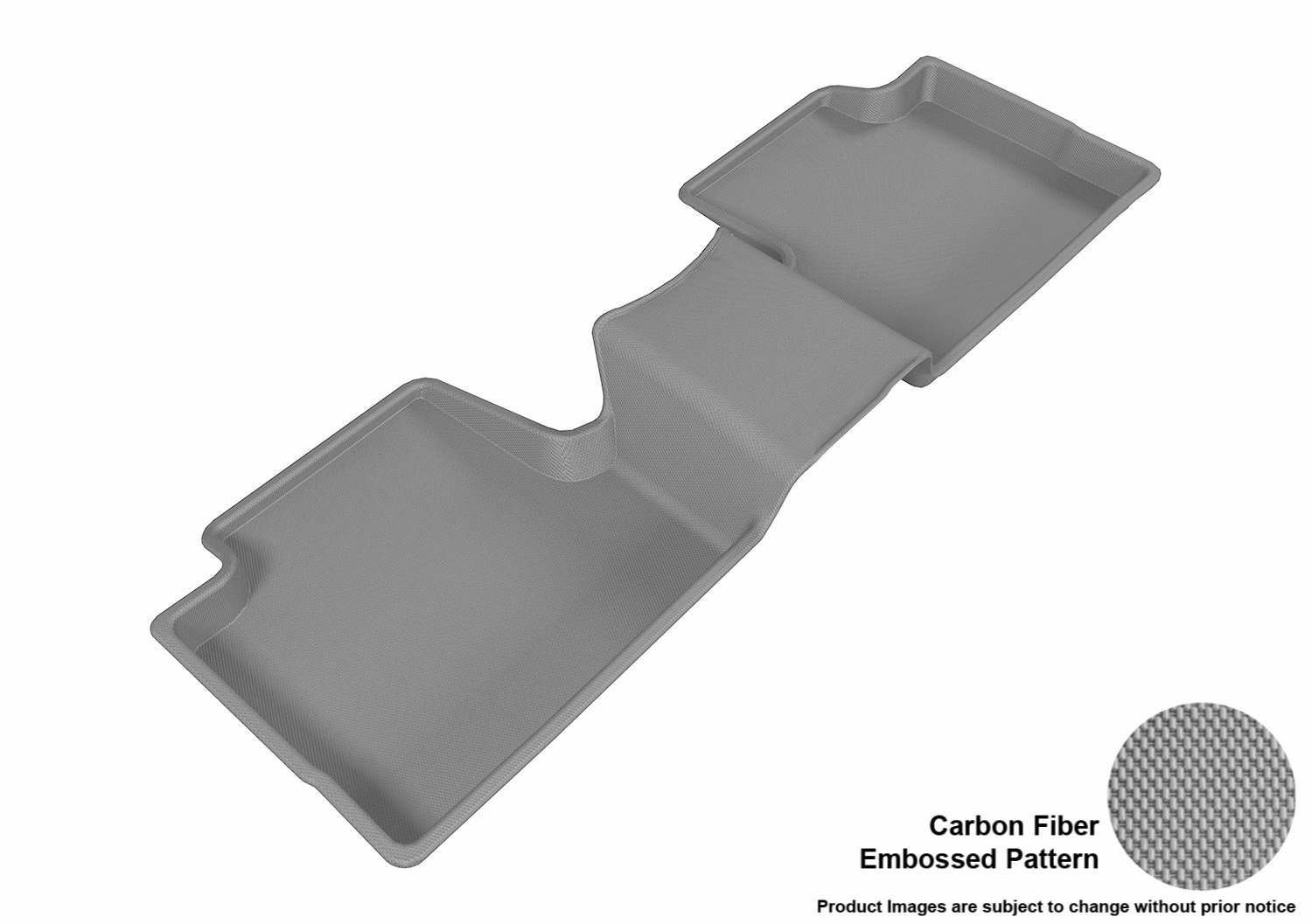 Gray 3D MAXpider L1JP01011501 Front Row Custom Fit All-Weather Floor Mat for Select Jeep Cherokee Models Kagu Rubber