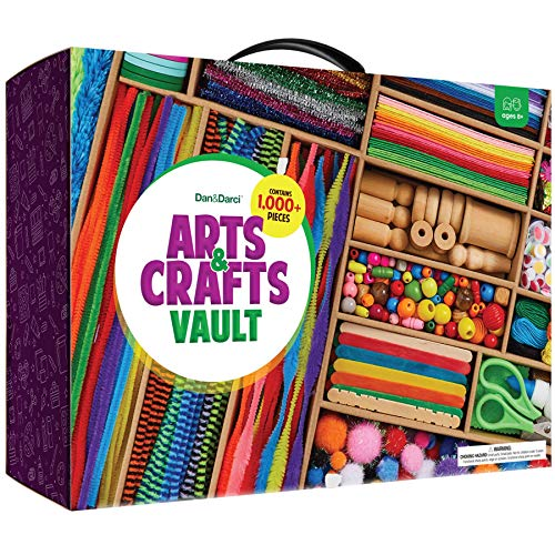 Arts and Crafts Vault – 1000+ Piece Craft Kit Library in a Box for Kids Ages 4 5 6 7 8 9 10 11 & 12 Year Old Girls…
