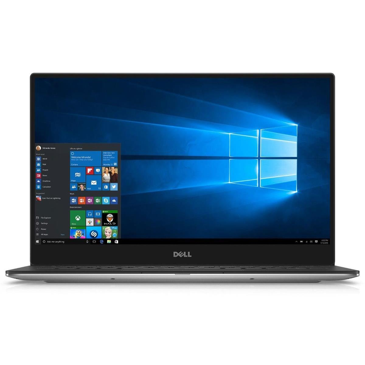 Dell XPS 13 13.3'' QHD+ (3200 x 1800) Touchscreen High Performance Ultraportable Laptop, Intel Core i5-6200u, 8GB LPDDR3, 256GB SSD, Thunderbolt 3, 802.11AC, Bluetooth, Up to 11 Hours Battery Life