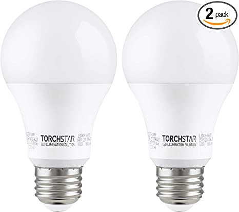 Amazon Com Torchstar 100w Equivalent Led Garage Door Opener Light Bulb 1500 Lumens A19 Ultra Bright 3000k Warm White Shock Resistant Minimize Interference 15 Watt Ul Listed E26 Base Pack Of 2 Home Improvement